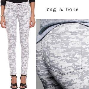 rag & bone Grey Camo Skinny Jeans EUC